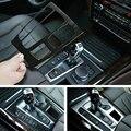 Для центральной консоли BMW X5 F15 2014 2016 2017 ABS  хромированная/углеродная текстура волокна панельная Накладка для коробки передач отделка