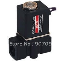 2P Model Engineering Plastic 2 Way Electric Solenoid Valve 2P025-06 Direct Acting Valve G1/8'' DC12V Lead Wire 6Pcs A Lot