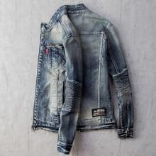 Весенние мужские джинсовые пальто, уличная одежда, европейский стиль, верхняя одежда, мужские джинсовые куртки, бейсбольная повседневная куртка, Униформа, одежда A527
