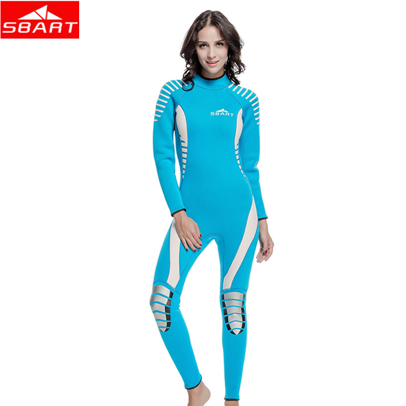 SBART 3MM One-Piece Wetsuit Neoprene Women Men Scuba Diving Spearfishing Wet Suit Keep Warm Scuba Diving Sport Wear Wetsuits sbart 3mm scuba diving wetsuit for men s neoprene one piece full body blue dive surf snokeling swimming keep warm diving suit