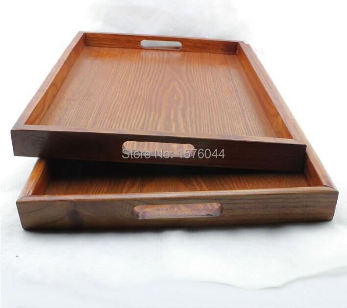 1 UNID bandeja de té de madera de gran tamaño de estilo japonés - Organización y almacenamiento en la casa - foto 2