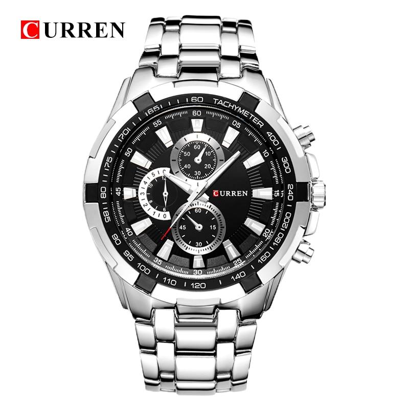 Relogio masculino CURREN Relojes Hombres cuarzo ejército Reloj de primeras marcas a prueba de agua Relojes masculinos Hombres Deportes