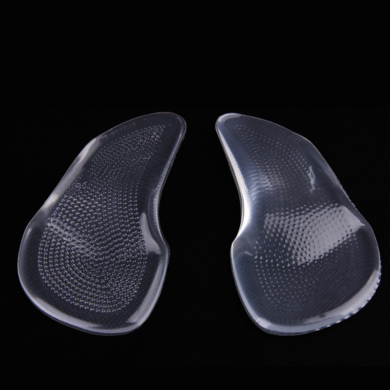 1 Pair Men/Women Silicone Gel High Heels Arch Support Shoe Inserts Pad Orthopedic Orthotics Flat Foot Correct Shoe Insoles super soft vibration silicone gel insoles invisible high heels sottopiede pad non slip half a yard of the ball of your foot ins