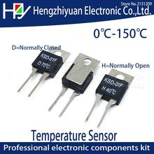 1.5A 250V TO-220 Thermal Switch Temperature Sensor Thermostat KSD-01F Fuse 40 50 100 125 130C D Normally Closed H Normally Open genuine shanghai yatai xmtd h 6000 temperature control table xmtd h 6411v thermostat xmtf h 6411v