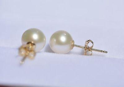 Boucle d'oreille parfaite ronde 7.5-8 MM AAA + blanc mer du sud perles> Dongguan fille bijoux magasin livraison gratuite