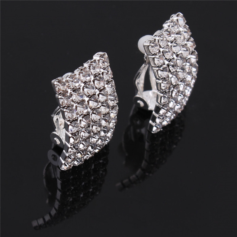 Grace Jun Gaya Baru Berlian Imitasi Kristal Klip Geometri pada - Perhiasan fesyen - Foto 6