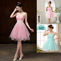 Bridesmaid Dresses drnwof 2017 New Short A-Line Strapless Women Cheap Bridesmaid Dress Fast Shipping Wedding Party Junior Dress