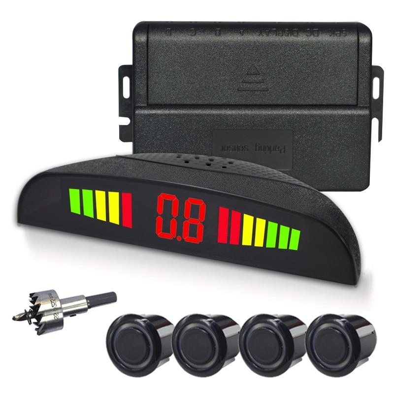 4/capteurs NY3016 Voiture LED Parking Capteur Kit D'affichage pour toutes les voitures parking détecteur de voiture aide au stationnement parking capteur