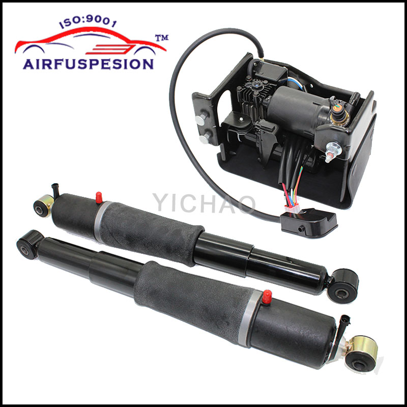 For Chevrolet Avalanche Suburban Cadillac Escalade Tahoe GMC Yukon Pair Rear Air Suspension shock Compressor Pump 949-000 AS2708 r4 ac compressor for car chevrolet s10 blazer caprice pick up truck suburban tahoe gmc jimmy sonoma fleetwood 15 20189 88964862