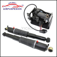 For Chevrolet Avalanche Suburban Cadillac Escalade TahoeGMC Yukon Pair Rear Air Suspension Shocks Compressor Pump 949