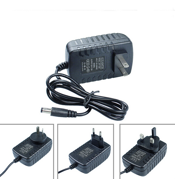 EU/AU/US/UK plug Switching  AC 100V-240V Converter Adapter DC 12V 2A 2000mA Power Supply 5.5mm x 2.1-2.5mm for LED CCTV Camera security uk us eu au 12 volt 1 amp power supply power adapter for cctv ir infrared night vision lamp dvr systems camera