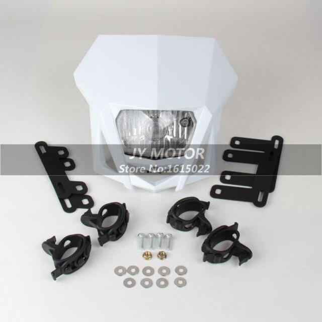 Universal Motorcycle Headlight Head Lamp fairing 12V 35W For CRF EXC SX SXF RMZ XR WR YZ DR DMZ KLX KX KXF 250 450