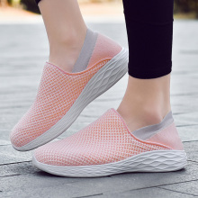 New Women and Men Running ShoesSneakers 2019 Summer Breathable Mesh Light Slip-On Shoes  Cheap Outdoor Sports Comfortable