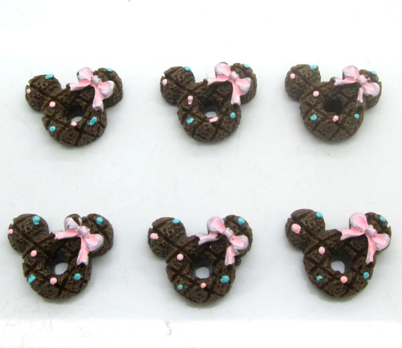20Pcs Colorful Resin Mouse Decoration Crafts Flatback Cabochon Scrapbooking Fit Hair Clips Embellishments Beads Diy