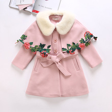 ChanJoyCC Winter Hot Sale Children's Coat Baby Girls Long Sleeve Fashion With Fur Collar Thickening Warm Outerwear For Kids