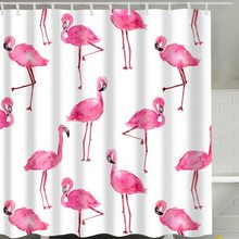 Hoomall Hot Flamingo Shower Curtain Washable Bath Decor Polyester Fabric Cute Animal Print Bathroom Curtain Polyester Fabric(China)