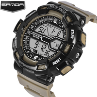 2017 Hot Brand Mens Sports Watches LED Digital Clock Waterproof G Style Shock Military Army Wristwatch Reloj Hombre Dropshipping