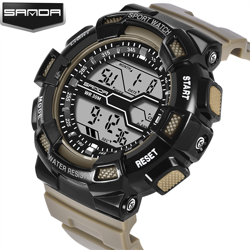 Lover's Watches 2017 Sanda Fashion Multifunction Colorful Outdoor Military Watch Compass 5atm Running Swimming Climbing Wristwatches Hot Clock