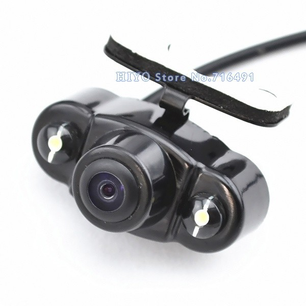 все цены на 2Pcs/lot Parking Assistance System Universal HD CMOS 2 LED Night Vision Car Rear View Camera Backup side 170 degree  waterproof онлайн