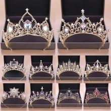 Wedding Crown Tiara Crystal Bridal Hair Accessories Crystal Tiaras & Crowns Wedding Gold Head Piece Party Bride Hair Ornaments цены
