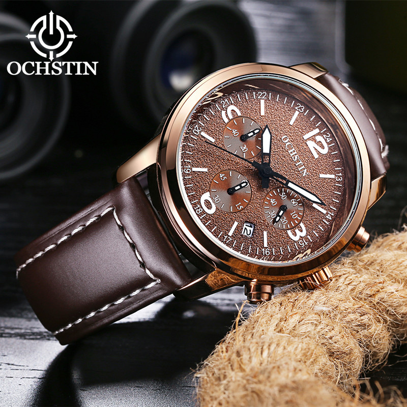 2017 Ochstin Cronógrafo Reloj Casual Hombres Marca de Lujo Deporte - Relojes para hombres - foto 5