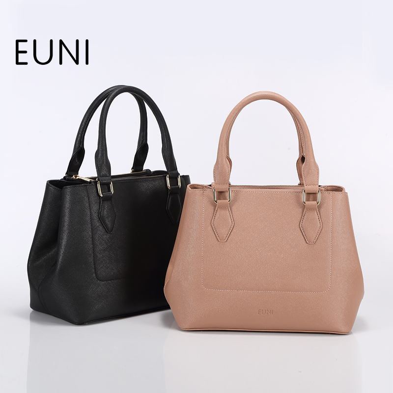 EUNI Luxury Handbags Women Bags Designer Top Quality Shoulder Bag For Women Fashion Exclusive Handbags Women Famous Brands Bolsa chispaulo women genuine leather handbags cowhide patent famous brands designer handbags high quality tote bag bolsa tassel c165