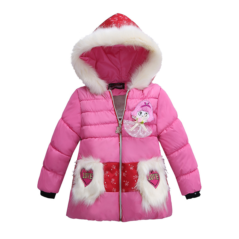 Winter Warm Down Coat Baby Boy Girl Jacket Fashion Hooded Children Snowsuit Long Sleeve Pathchwork Kids Outerwear of 1-3 y russia 2016 children outerwear baby girl winter wadded jacket girl warm thickening parkas kids fashion cotton padded coat jacket