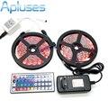 10 M LEVOU Faixa de Luz 5050 RGB 600LED Luz de Tira Flexível Set + 44 Teclas de Controle Remoto + 12 V 3A fonte de Alimentação adaptador