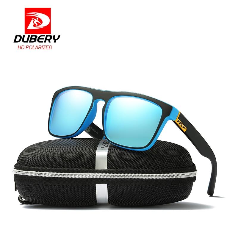 DUBERY Brand Design Square Polarized HD Sunglasses Men Driving Shades Eyewear