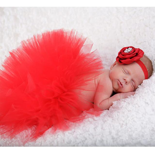 Conjuntos para la fotografía del bebé del tutú de la princesa del tutú del recién nacido y de la vendimia floral diadema baby shower regalo photo studio props disparar