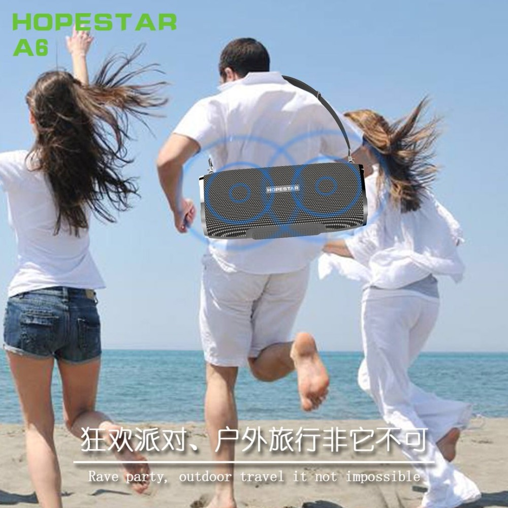 Image 5 - HOPESTAR A6 Bluetooth Speaker Portable Wireless Loudspeaker Soundbar 3D stereo Outdoor Waterproof Big Power Bank 35W-in Portable Speakers from Consumer Electronics