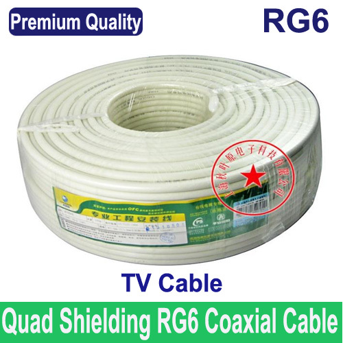 Premium Quality RG6 coax coaxial TV cable wire TV line, Wholesales ...