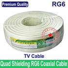 Premium Quality RG6 coax coaxial TV cable wire TV line, Wholesales 100M 325FT/lots,Free shipping & Fast Delivery