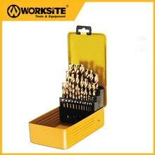 Worksitetools XDB25 25pcs HSS Twist Drill Bit Set