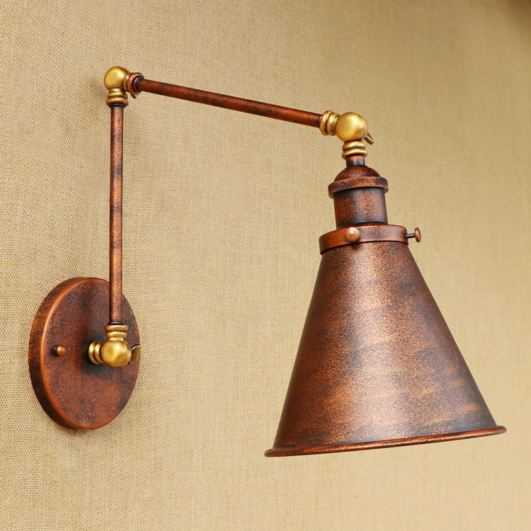 vintage led wandlamp retro luzes de parede