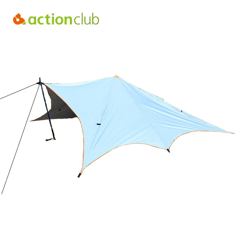 Actionclub Ultralight 3-4 Persons Outdoor Tent PU Waterproof Anti UV Single Layer Outdoor Hiking Camping Pyramid Shelter Tent high quality outdoor 2 person camping tent double layer aluminum rod ultralight tent with snow skirt oneroad windsnow 2 plus