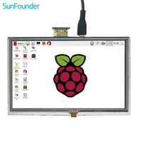 SunFounder 5 HD TFT LCD Touch Screen Monitor Display HDMI 800*480 for Raspberry Pi 3, 2 Model B and Raspberry Pi 1 Model B+