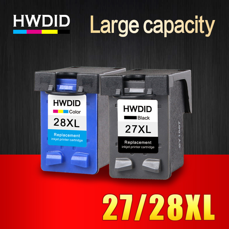 HWDID 27XL 28XL Refilled Ink Cartridge Replacement For HP 27 28 XL for HP Deskjet 450 450CI 5550 3420 3520 3550 3650 3740 3845 hwdid 56xl 57xl ink cartridge compatible for hp 56 57 c6656a c6657a deskjet 450ci 5550 5552 7150 7350 7000 2100 220 printer