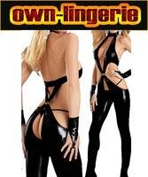 Sexy Leather Como Adultos Lencería Peluches Body Womens Disfraces Catwoman Traje w6015