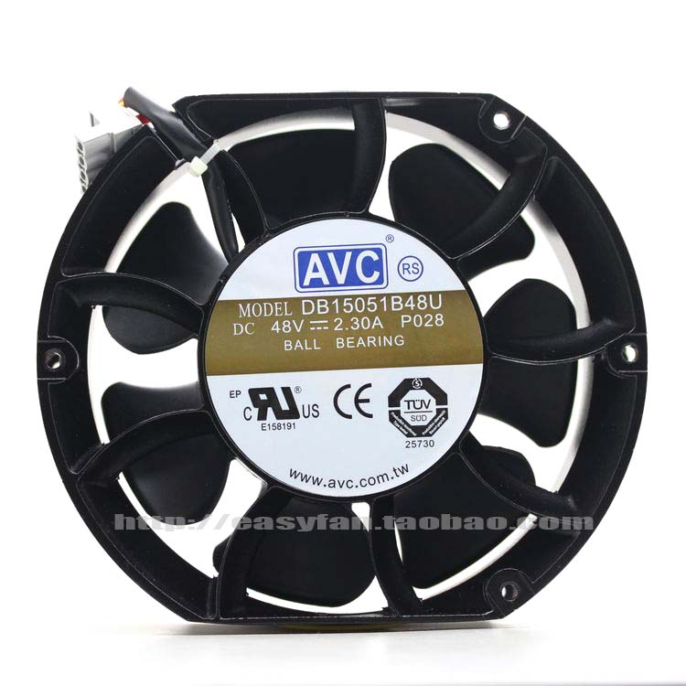 NEW AVC DB15051B48U 150mm 48V Double Ball bearing 15051 cooling fan