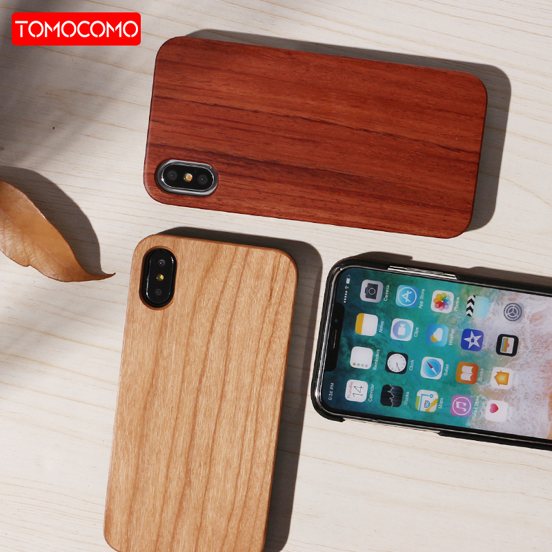 TOMOCOMO Real Wood Case For iphone X 8 7 6 6S Plus 5S SE Cover Natural Bamboo Wooden Hard Phone Cases For Samsung Galaxy S8 S9