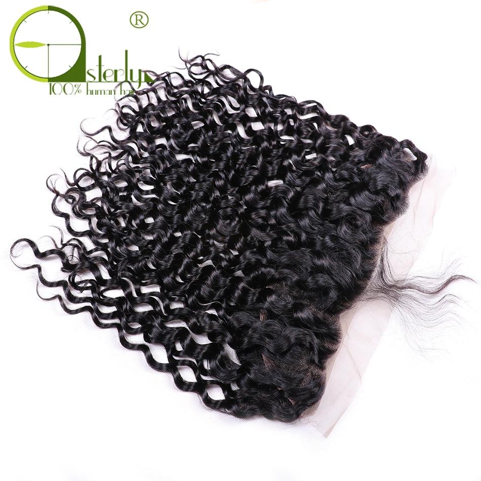 HTB1aR mfgjN8KJjSZFkq6yboXXaM Sterly Water Wave Bundles With Frontal Closure 13x4 Lace Frontal With Bundles Remy Brazilian Hair Weave Bundles