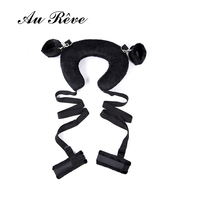 Soft Pillow Ankle Cuffs Handcuffs Fetish Bed Bondage Sponge Collar Restraint Kit For Couple BDSM Sex