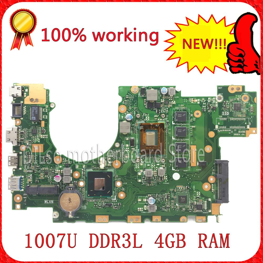 KEFU X402CA For ASUS X502CA X402CA laptop motherboard X502CA new motherboard rev2.0 4G RAM 1007u DDR3L Test for asus x502ca laptop motherboard x402ca rev2 1 with 847cpu 4g mainboard fully tested