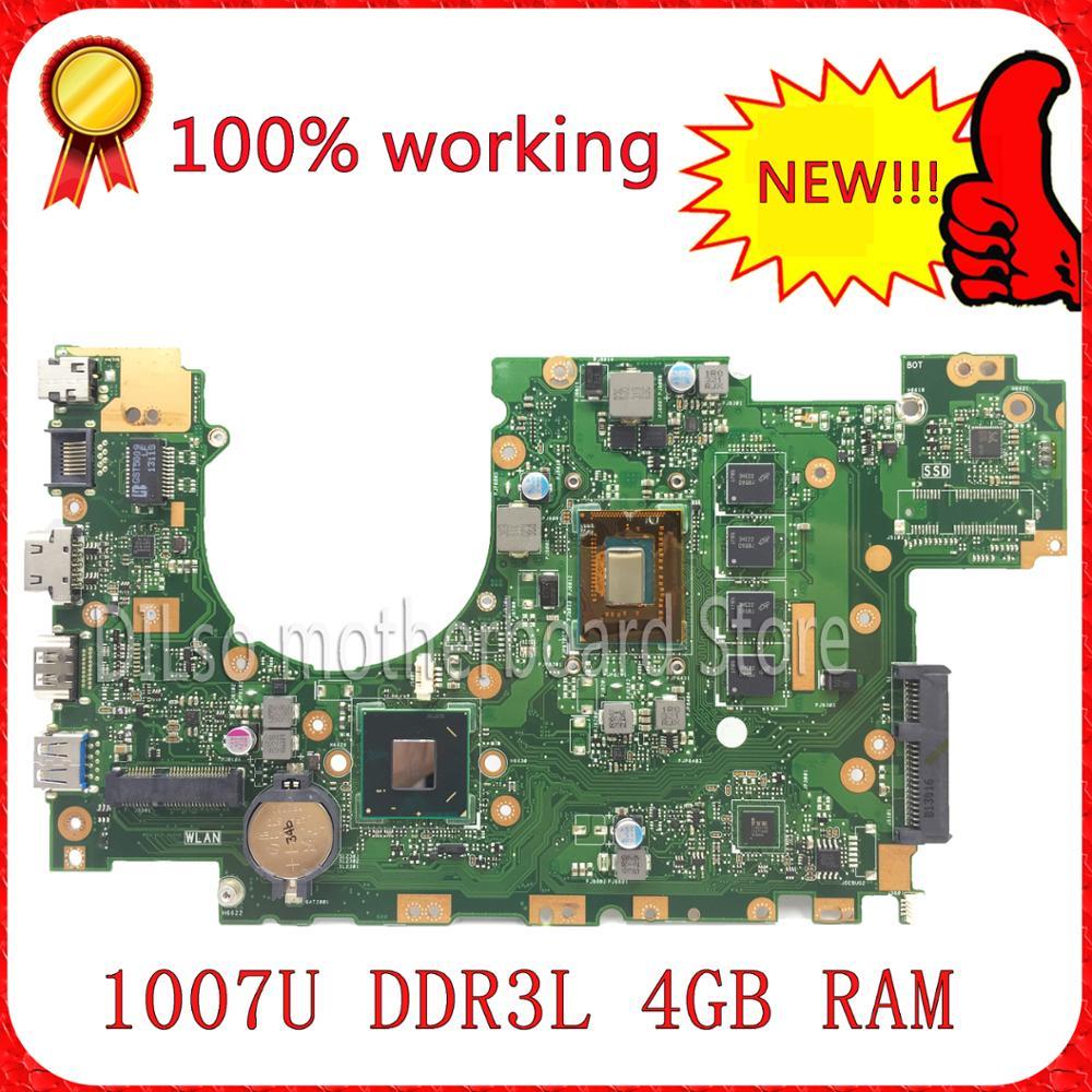 SHUOHU X402CA For ASUS X502CA X402CA laptop motherboard X502CA new motherboard  rev2.0 4G RAM 1007u DDR3L  100% tested shuohu ux21e for asus ux21e laptop motherboard zenbook ux21 i5 2476m 4g ram rev3 3
