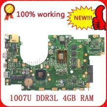 SHUOHU X402CA X502CA nueva placa base placa madre del ordenador portátil De ASUS X402CA X502CA 1007u rev2.0 4G RAM DDR3L 100% probado
