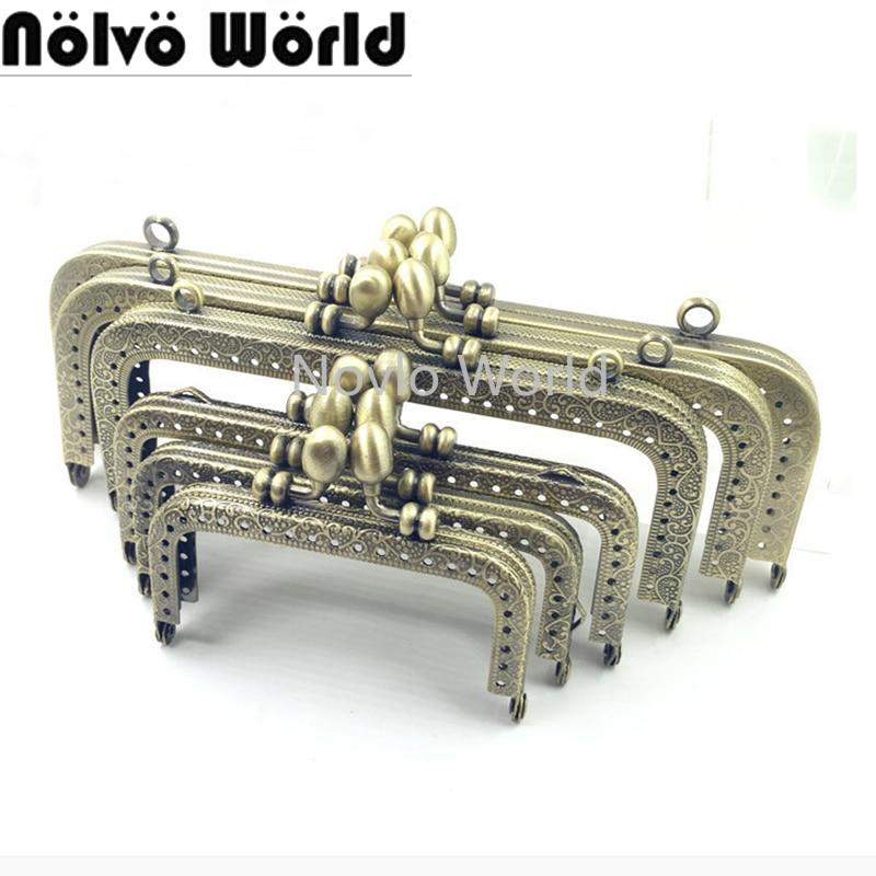 Bolsas de Moedas Acessórios de Metal Fecho de Bloqueio para o Bolsa 12.5 15 16 18 20 Centímetros Bolsa Metal Frame Handle Quadro Beijo 10 Pcs 8.5 – 10.5
