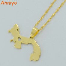 Anniyo Panama Pendant Necklace for Women/Men Gold Color Jewelry Map of Panama Small Chain #005121(China)