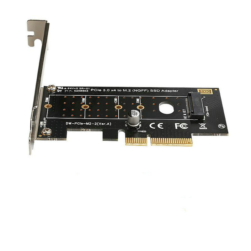 DIEWU NEW PCI-E PCI Express 3.0 X4 to NVME M.2 M KEY NGFF SSD pcie M2 riser card Adapter