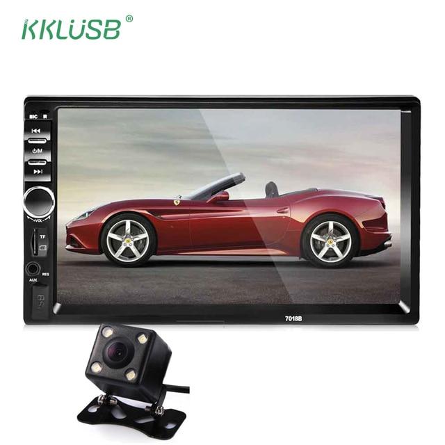 Автомагнитолы 2 DIN 7 дюймов ЖК-дисплей сенсорный экран автомагнитолы аудио плеер автомобиля Авто Стерео Bluetooth несколько языков меню Поддержка камера